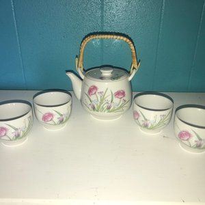 Vintage Japanese Tea Service for Four